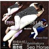 Creative big hippocampus boyfriend Cushion sleeping sea horse pillow plush toys free shipping