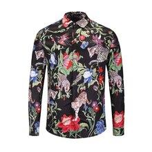 XIMIWUA 2019 New Arrival Floral Shirt Mens Shirts Casual Slim Fit Long Sleeve High Quality Camisas Para Hombre Hawaiian