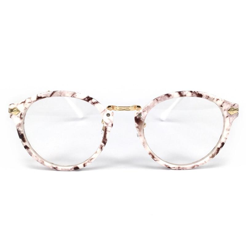 Mode Brillengestell Frauen transparente Linse Nerd brille Leopard ...