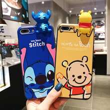 Kawaii Cartoon pattern Stitch Soft Silicon cover case for