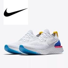 Nike Epic реагировать Flyknit оригинальный для мужчин's Беговая Спортивная обувь Открытый дышащий спортивная обувь удобные низкие AQ0067-101