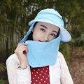 Verano Al Aire Libre Sol Sombrero Mujeres de la Cara Protección UV de Secado rápido Sombrero Del Cubo de Pesca de Malla de Cortina Mosquito Prevenir Viseras B-2337