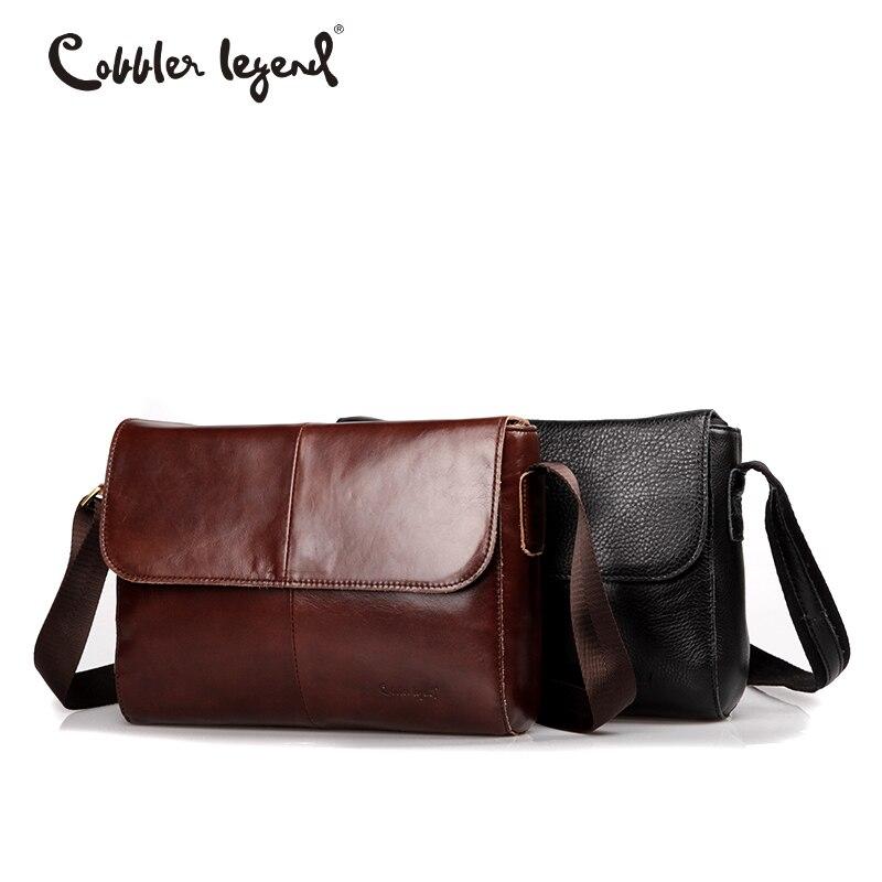 Cobbler 전설 정품 가죽 가방 남자 가방 메신저 캐주얼 남자 여행 가방 가죽 클러치 크로스 바디 가방 숄더 핸드백