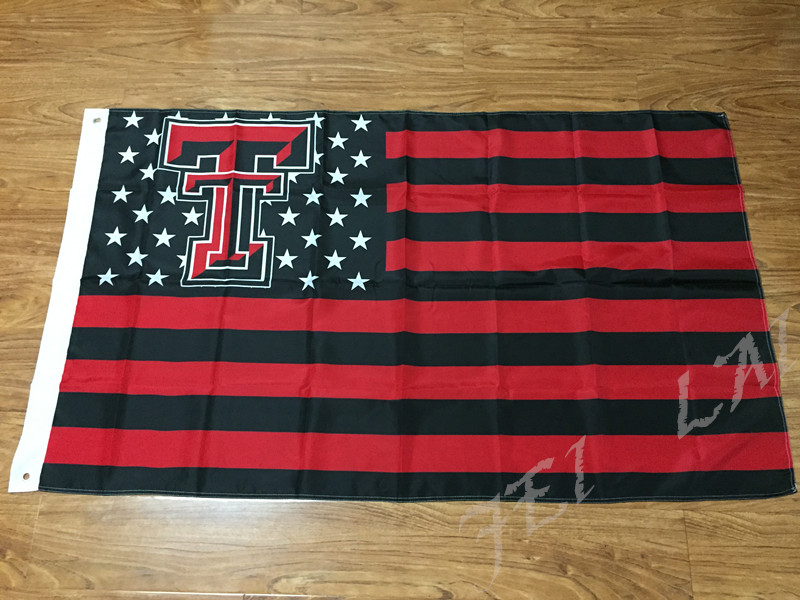 <font><b>Texas</b></font> Tech Red Raiders Nation Flag 3ft x 5ft Polyester NCAA Banner <font><b>Flying</b></font> Size No.4 144* 96cm Custom Flag