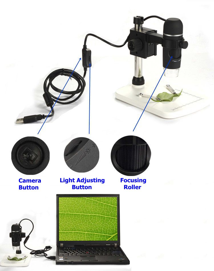 5MP 8 LED Lights Illuminant 300X USB Zoom Camera Magnifier Portable Digital Video Microscope for Repairing