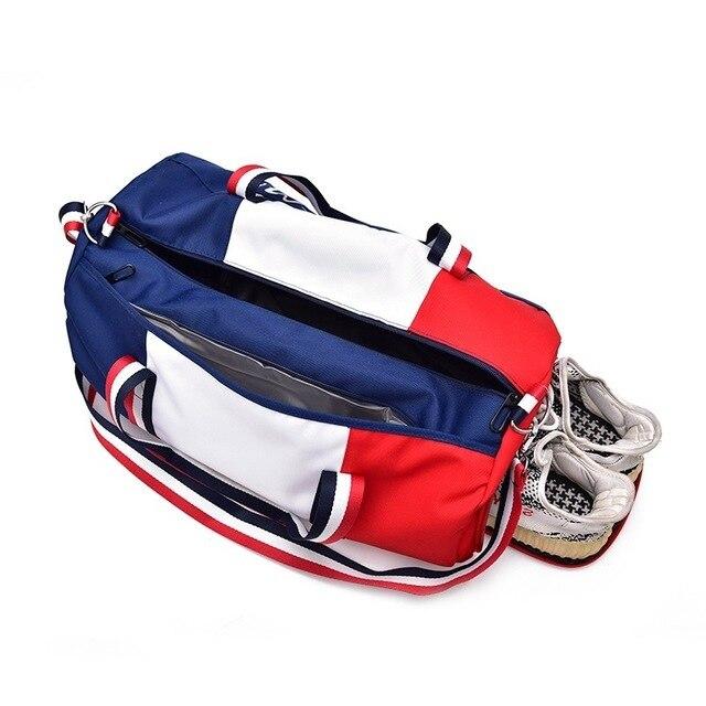 bag Dry and wet separation Fitness bag Cylinder waterproof Travel portable sports bag sport bolsa tassen tas gym bag 1