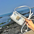 2016 Fashion Small Transparent Bag Ladies Famous Brand Designer Shoulder Bag Set PVC Messenger Bag Metal Lock Bolsos