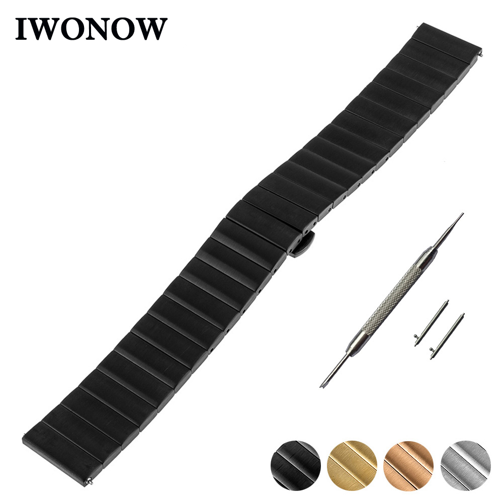 Stainless Steel Watch Band 16mm 18mm 20mm for Timex Weekende