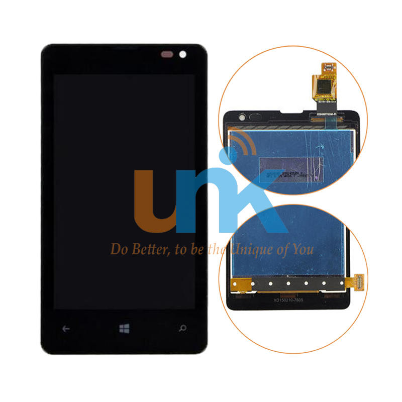 New Replacement LCD For Microsoft Nokia Lumia 435 LCD Display Touch Screen Digitizer Assembly with Frame Black Free Shipping aaa quality replacement for nokia lumia 920 lcd display with touch screen digitizer assembly with frame free shipping