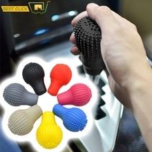 Car Round Silicone Gear Shift Knob Cover Manual Lever Silicon Shifter Knobs Stick Skin For 206 307 308 408 Citroen C4 C2 C3