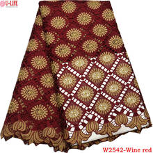 High Quality African Lace Fabric 2018 Lace Fabric For Wedding Dresses Cord Lace With Stones African women Lace Fabric W2-542