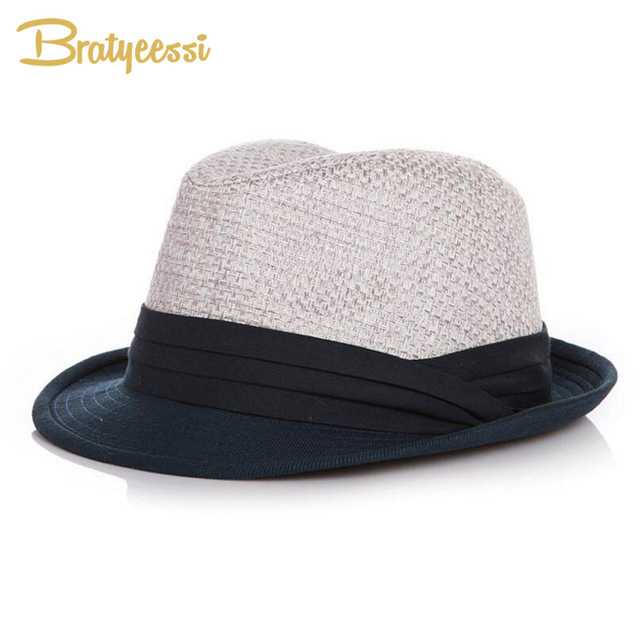4a950da5 Brief Summer Children Hats for Boys Straw Fedora Hat Girls Sun Cap  Accessories for 2-6 Years