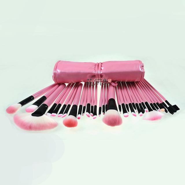 32 pcspink terno escova pincel de maquiagem makeup brushes set marca escova styling tools para make up beleza maquillage pinceaux