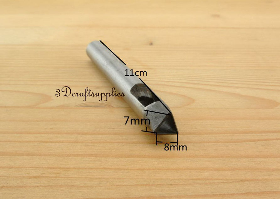 Cutting Die Leather Puncher Hole Gasket Cutter Punch Set Tool Triangle 8 Mm S171