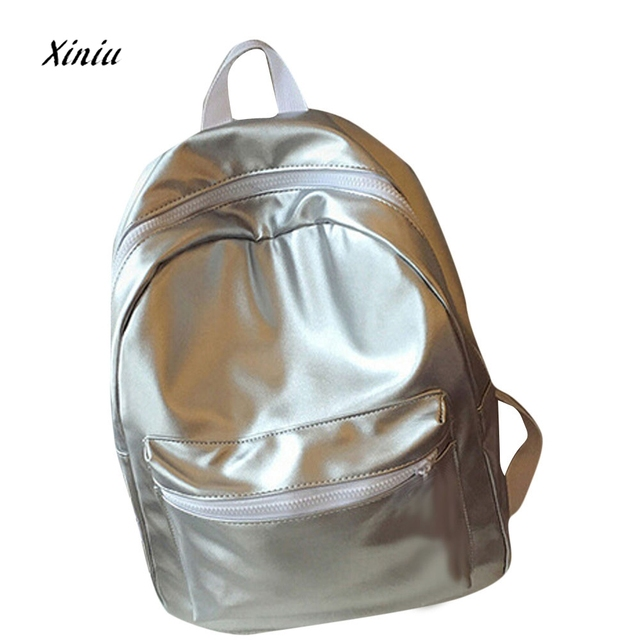 4323fdb0ab1 US $14.25 25% OFF|Hot Sale Women Girls Leather School Bag Travel Backpack  Zipper Big Storage Satchel Women Shoulder Rucksack Backpacks bolsa-in ...