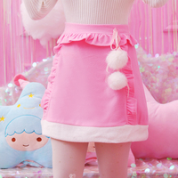 Princess Sweet Lolita Skirt Winter Girl Sweet Wind Sweet Short Skirt Soft Sister Wind Hair Ball
