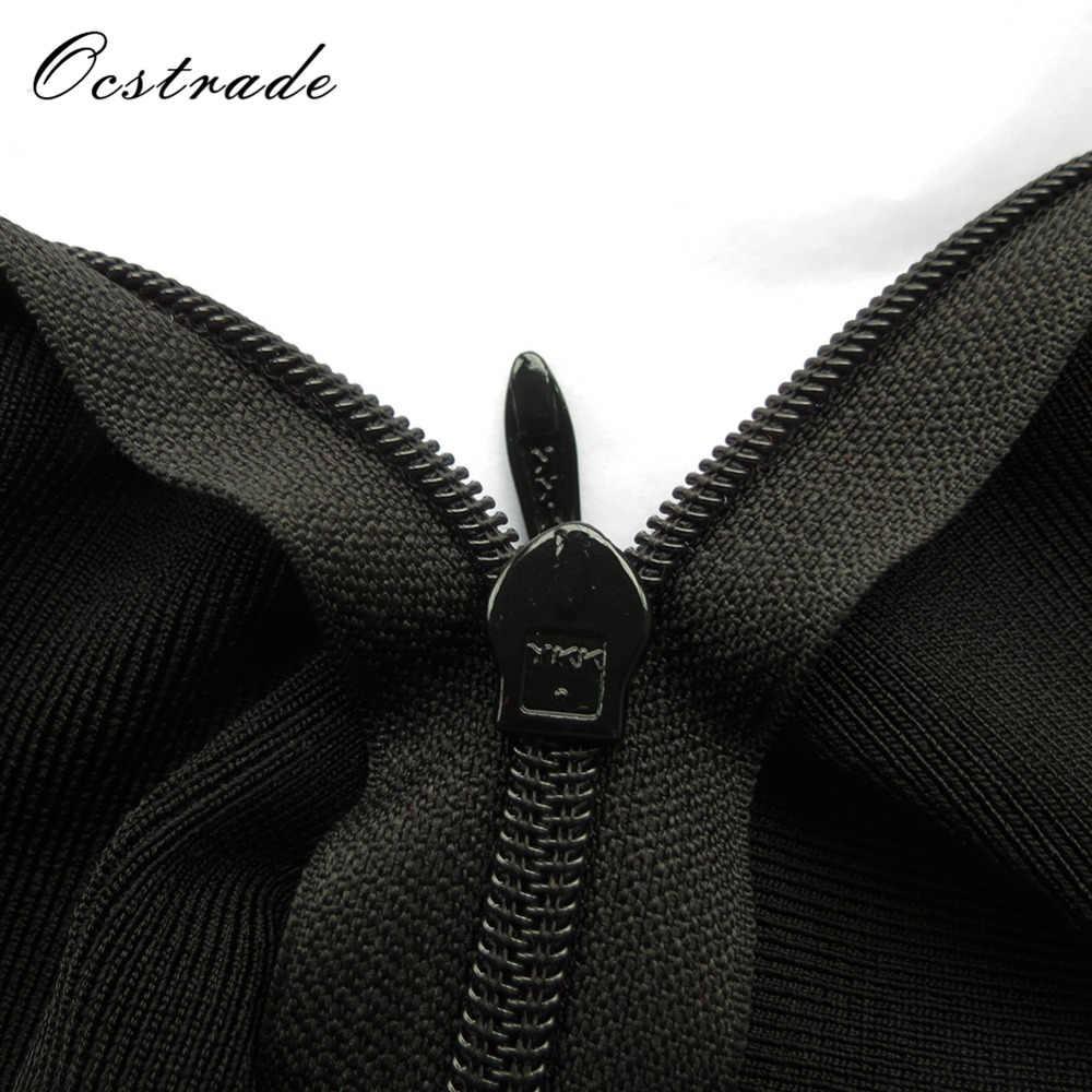 Ocstrade Лето 2017 Новый сексуальный для женщин, из искусственного шелка Бандаж черный Боди вечерние модные боди