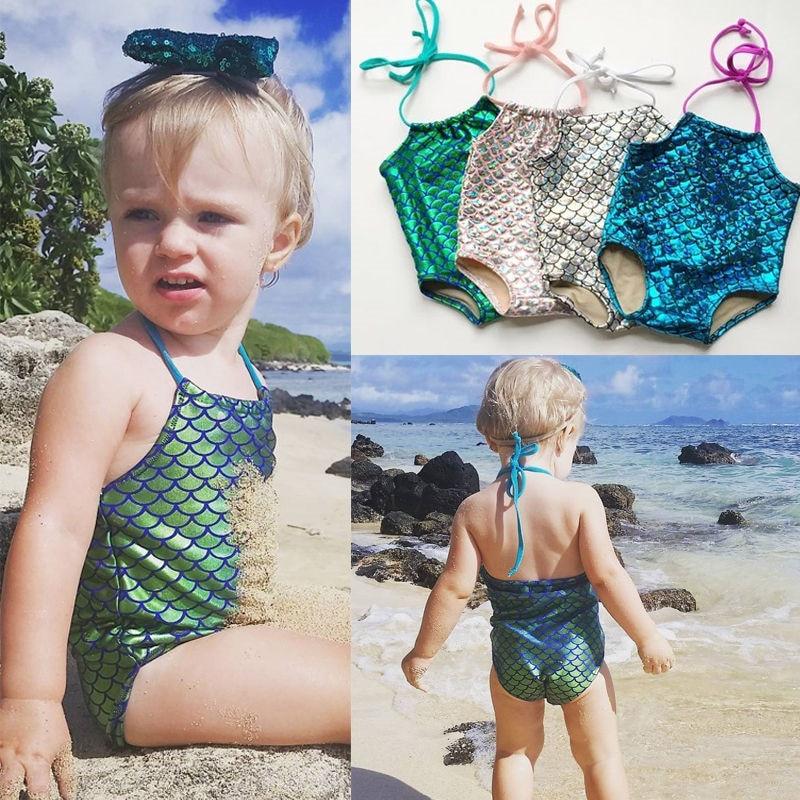 Baby Kids Girl Clothes Mermaid Bikini Swimwuit Swimwear Bathing Suit Bodysuits Costume Beachwear