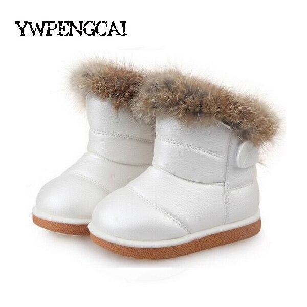 fe056e5e Rozmiar 21 30 dla dzieci dziewczyna futro śnieg buty ciepłe grube buty dla  dzieci królik włosy filcowe buty zimowe buty dla dzieci różowy, biały, ...