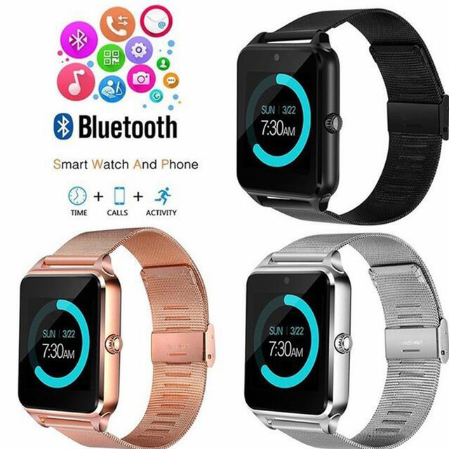 2019 <font><b>Smart</b></font> <font><b>Watch</b></font> <font><b>GT08</b></font> <font><b>Plus</b></font> <font><b>Metal</b></font> Clock With Sim Card Slot Push Message Bluetooth Connectivity Android Phone Smartwatch Z60 PK S8 image