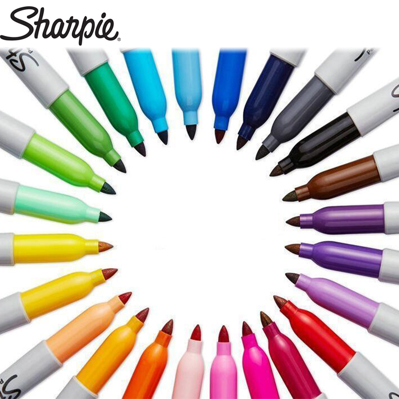 1pcs Sharpie Marker Pen Oily Non-fading Waterproof Quick-drying Art Painting Color Large-capacity Marker