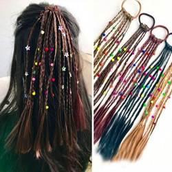 Новая мода детский Парик Косы Multi-color Мини Clip Детские эластичные ленты для волос заколки для девочек Стиль волос аксессуары тросы
