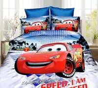 New Lightning McQueen Cars Bed Linens 3d Bedding Set Single Size Boy S Duvet Quilt Cover