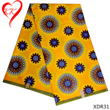 цены KK High quality Nigerian wax fabric 2017 cotton wax Ankara fabric veritable African wax fabric for Nigeria dress cloth XDR31