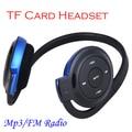 Esporte Correndo Headband Fones De Ouvido Mini USB fone de Ouvido 2.0 Max de 8 GB fone de Ouvido Cartão De TF FM Rádio MP3 Player de Música MP3 Azul Jogador