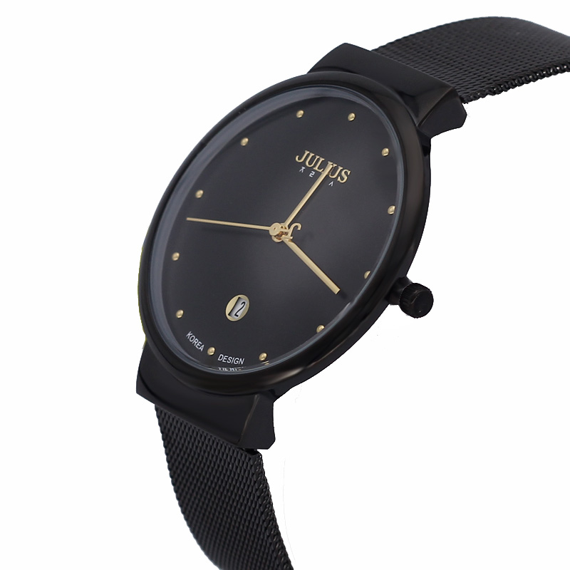 Auto Date Ultra Thin Watch Japan Quartz Men's Hours Clock Top Fashion Dress Bracelet Stainless Steel Boy Birthday Gift