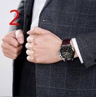 2018 новый счетчик подлинной для мужчин's водонепроницаемые часы Автоматические кварцевые ультра тонкие модные механические часы мужчин