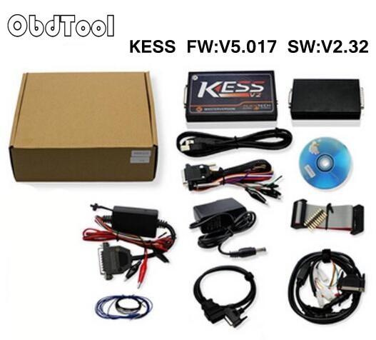 ObdTooL KESS V2 V2.32 OBD2 Manager Tuning Kit Unlimited Token Kess V2 FW V5.017 Master Version ECU Chip Tuning with J Link LR20