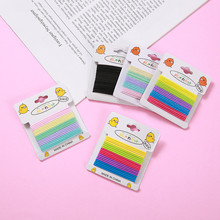 Colorful Elastic Hair Bands Rope Multicolor No Knot Mark Ponytail Holder For Girls Kids Rubber Band Tie Gum Accessorie