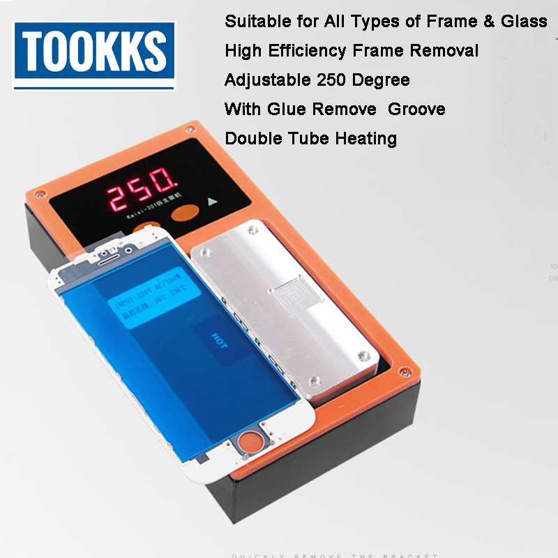 Phone Bezel Frame Separator Middle Frame Separate Heating Plate Machine for iPhone LCD Frame Separate Glue Remove machine gowe new triple function lcd separator glue remover bezel frame laminating machine for phone screen repair refurbished