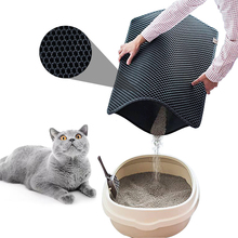 Waterproof Pet Cat Litter Mat EVA Double Layer Trapping Clean Pad Products For Cats Accessories #