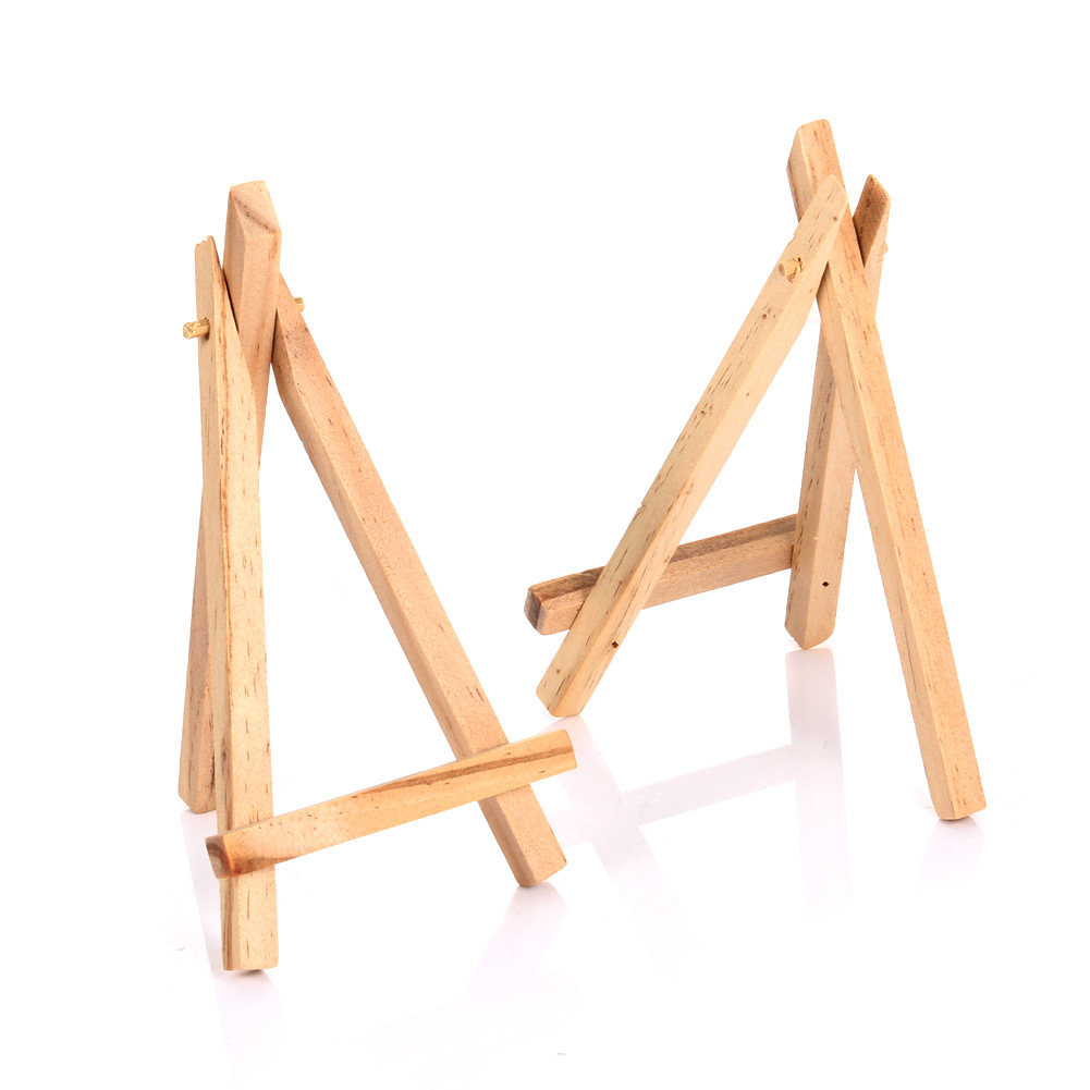 10pcs Mini Wooden Easels Cafe Table Number Easel Practical Place Name Holder Multifunction Stand 88 NSV775