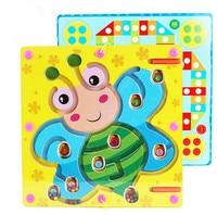 Children 's tree magnetic maze pen stroke beads puzzle intelligence desktop toys early education baby boy girl wooden toys