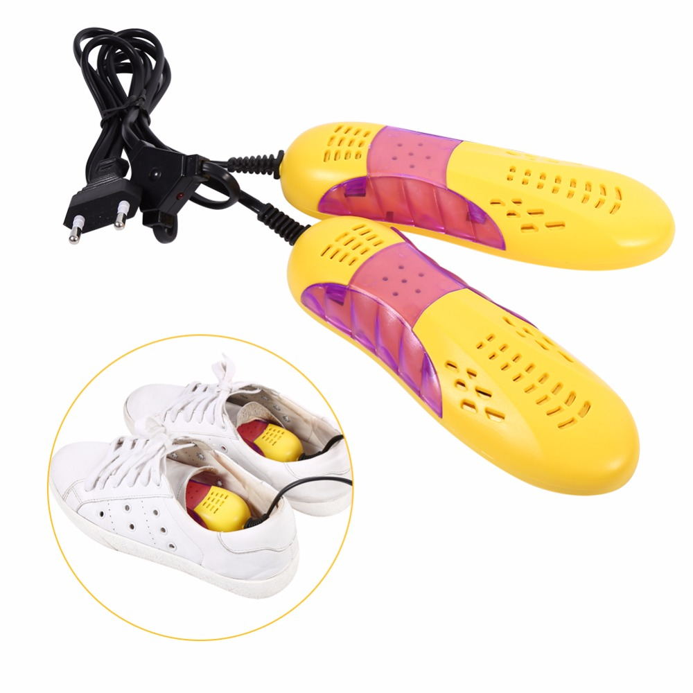 220 V 10 W EU Lampu Bentuk Mobil Balap Voilet Pengering Sepatu Bot Pelindung Kaki Bau Deodoran Dehumidify Perangkat pemanas Pengering Sepatu-Internasional