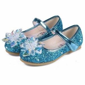 Милая обувь принцессы для девочек; Новинка; детская танцевальная обувь принцессы на плоской подошве со стразами и бантом; Размеры 25-36