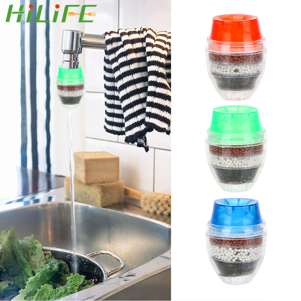 HILIFE Activated Carbon Water Purifier 5-layer Filter Kitchen Accessories Faucet Tap Filter Home Improvement