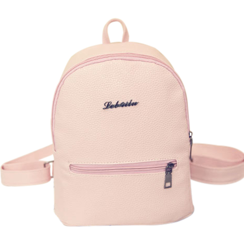 New Fashion Women Backpack Korea High Quality PU Leather Candy Color College Shoulder Bag Sweet Girl Traveling Small Female Bag stacy bag hot sale new arrival high quality women pu leather backpack sweet girl small vintage backpack pink beige black blue