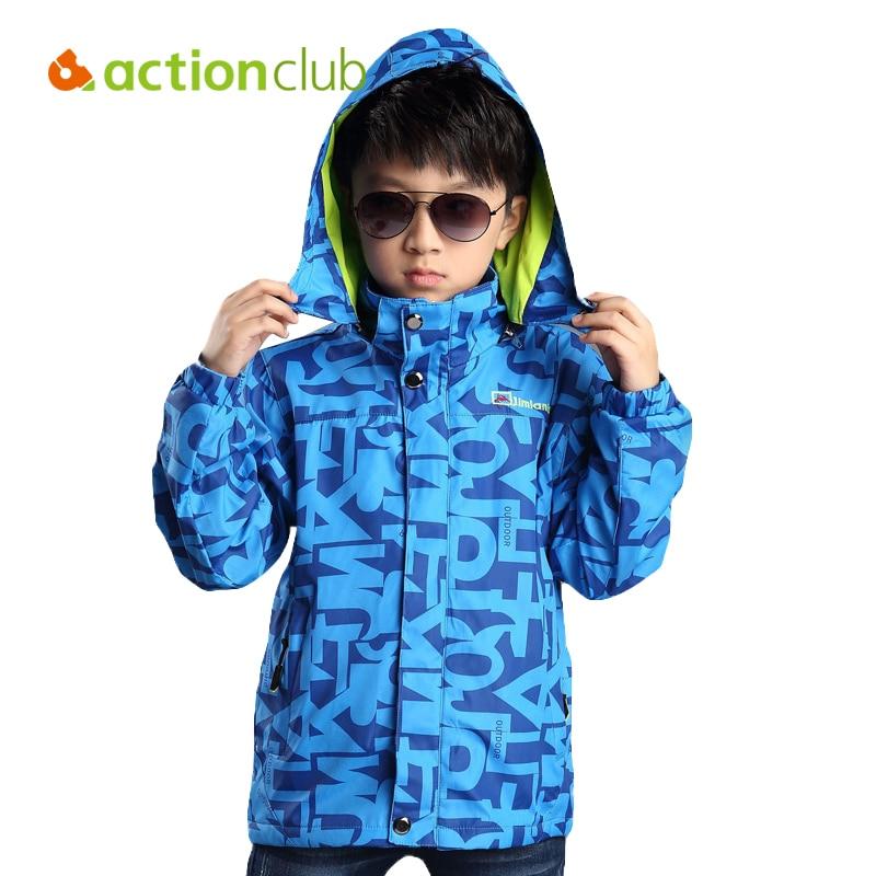 Actionclub primavera otoño niños deportes al aire libre prendas de vestir exteri