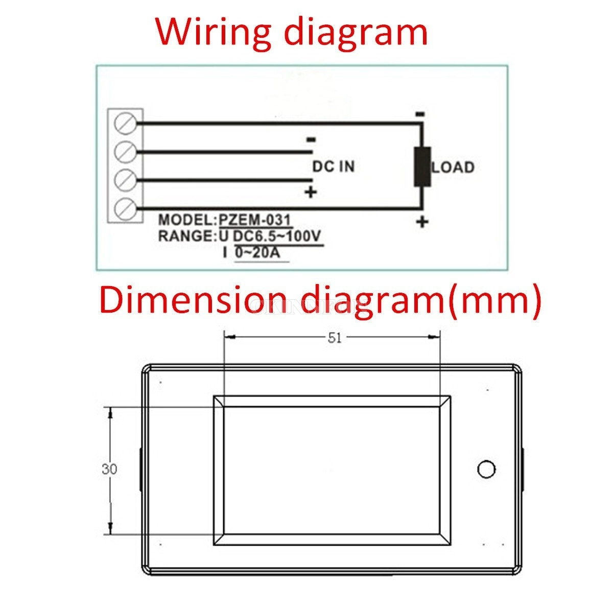 Dhl 50pcs Dc 20a Panel Meter Voltage Current Power Energy Monitor Solar Powered Cars Diagram Work X For Car Battery In Meters From Tools On Alibaba Group