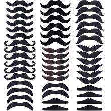 METABLE 48 Pieces Fake Mustaches, Self Adhesive Novelty Mustache Fiesta Party Supplies for Masquerade