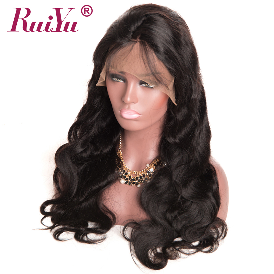 """RUIYU 360 Lace Frontal Wigs For Black Women Brazilian Body Wave Human Hair Wigs Pre Plucked Non Remy Hair Swiss Lace Wigs 8-22"""""""