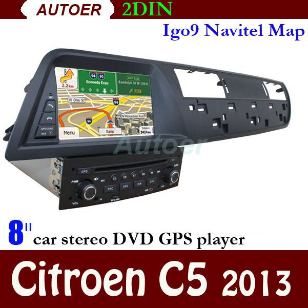 free shipping citroen c5 2013 8 inch touch screen with gps bluetooth rds radio 2 din car dvd car. Black Bedroom Furniture Sets. Home Design Ideas