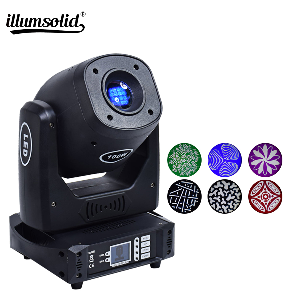 Color/Gobo 100w LED Spot Moving Head Stage Light Disco Wedding Party DJ