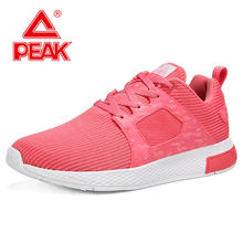цены PEAK Women Ultra-light Sports Casual Shoes Fashion Breathable MD Outsole Sports Shoes Walking Shoes