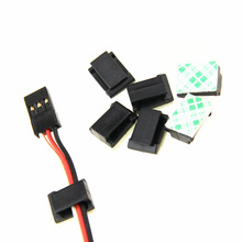 Best Deal 10Pcs Servo Cable Safety Buckle Clip with Double Sided Foam Adhesive Tapes Black RC