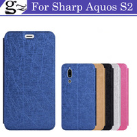 5.5Inch For SHARP AQUOS S2 flip phone case Tpu leather back cover coque funda For SHARP AQUOS S2 S 2 Back Shell